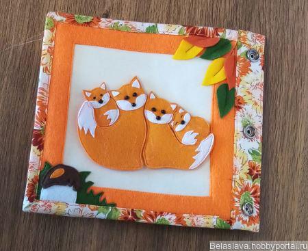 """Развивающая книжка-малышка """"Осень"""" ручной работы на заказ"""