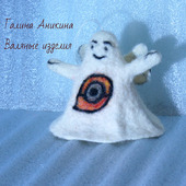 Сувенирная валяная игрушка Ангел