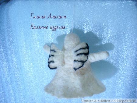 Сувенирная валяная игрушка Ангел ручной работы на заказ