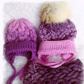 Вязаная шапка с градиентом детская