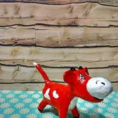 Бычок Гаврюша ёлочная игрушка из папье-маше