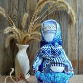Народная кукла оберег кукла Ведучка с мальчиком