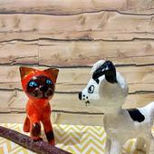 Котёнок по имени Гав ёлочная игрушка из папье маше