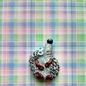 Любопытный Ёжик - магнитик из папье маше