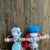 Народная кукла оберег  Неразлучники. Подарок на свадьбу, годовщину.