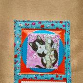 Обложка на паспорт Любопытный котёнок.