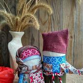 Крупеничка и Богач народные обережные куклы
