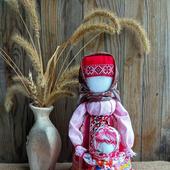 Народная кукла Ведучка с девочкой оберег помощница