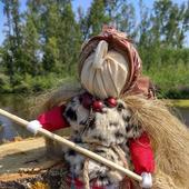 Кукла Баба Яга народная обережная кукла помощница в делах финансах