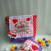 """Подарочный набор """"Мишки Тедди"""" - косметичка, несессер, органайзер"""