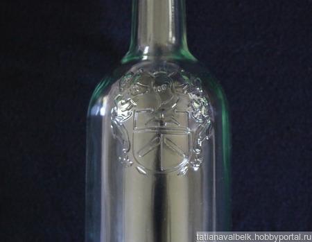 """Бутылки стеклянные прозрачные с """"вензелями"""" ручной работы на заказ"""