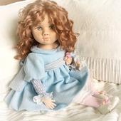 Интерьерная авторская текстильная кукла Злата