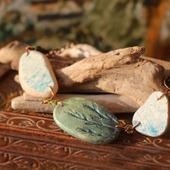 Колье с морской керамикой «Кохакугава»
