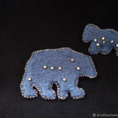 Брошь-булавка: Большая и малая медведицы