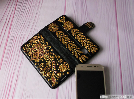 Чехол для смартфона Самсунг J3 ручной работы на заказ
