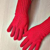 Перчатки цвета Кармин
