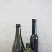 Бутылки стеклянные оливковые 3 вида