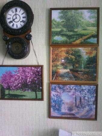 """Пейзажи  """"Времена года"""" ручной работы на заказ"""