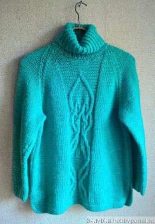 """Пуловер """"Мятная свежесть"""" ручной работы на заказ"""