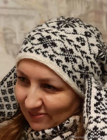 "Комплект ""Танюша"" - варежки, шапочка, снуд ручной работы на заказ"