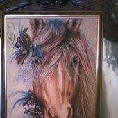 """Вышитая картина """"Лошадка"""""""