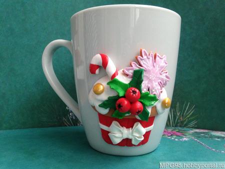 """Кружка """"Новогодние сладости"""" ручной работы на заказ"""