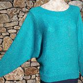 МК Женский свитер из кашемира, связанного поперек спицами