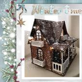 """Кукольный дом """"Новогодний"""" со светящейся гирляндой"""
