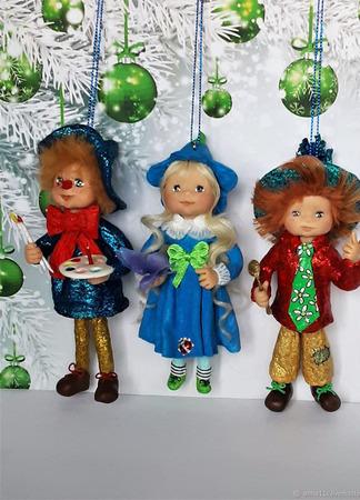 Елочные ватные игрушки : Незнайка и его друзья ручной работы на заказ