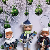 """Ватные ёлочные игрушки """"Новогоднее настроение"""""""