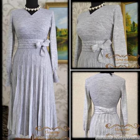 Платье гофре ручной работы на заказ