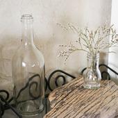 Бутылка стеклянная прозрачная