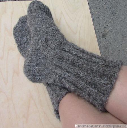 Носки вязаные спицами ручной работы на заказ