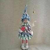 Ёлка кукла интерьерная сувенирная