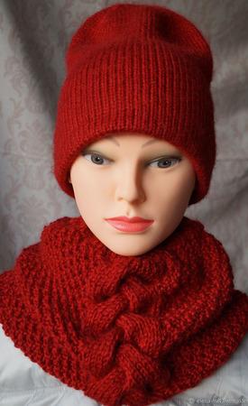 Зимняя шапка унисекс ручной работы на заказ