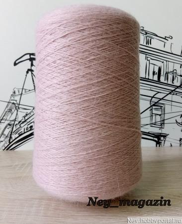 Пух норки (СТОК) пыльно розовый ручной работы на заказ