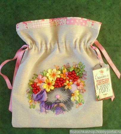 Мешочек для подарков ручной работы на заказ