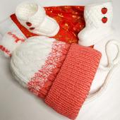 Комплект для девочки: шапка и пинетки