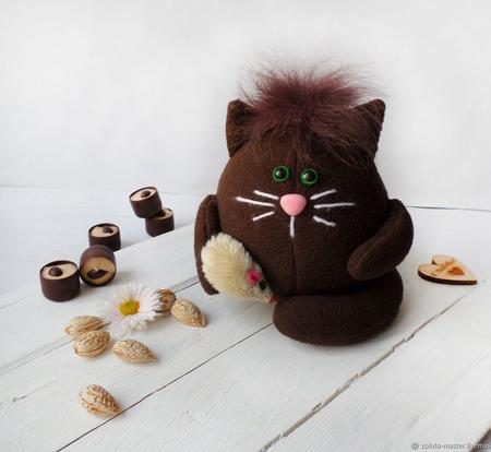 """Мягкий котик из флиса """"БрауниЧ"""" Кот домовой ручной работы на заказ"""