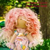 Интерьерная текстильная кукла Единорожик