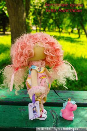 Интерьерная текстильная кукла Единорожик ручной работы на заказ