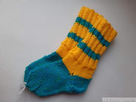 Носки вязаные детские ручной работы на заказ
