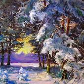 """Картина """"Зимний пейзаж"""""""