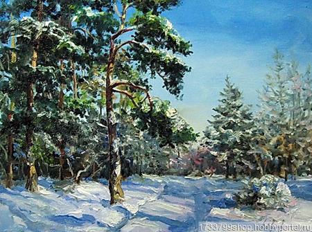 """Картина """"Зимний день"""" ручной работы на заказ"""
