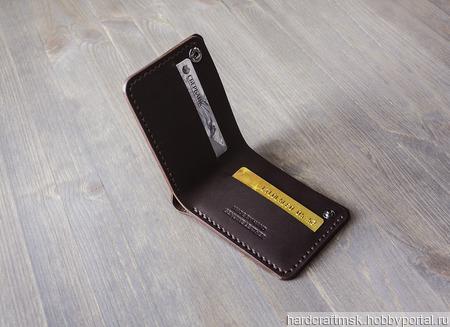 Бумажник из натуральной кожи ручной работы на заказ