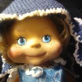 """Шапка """"Медуза"""" для куклы"""