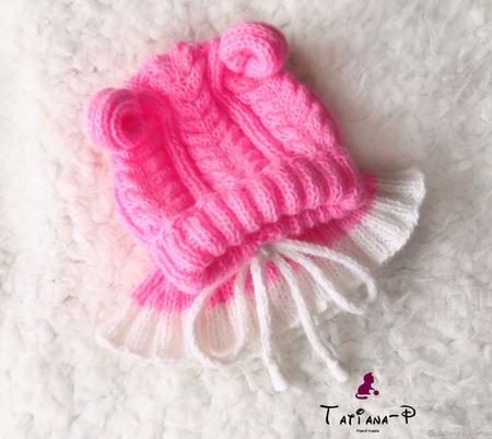 Шапка-шлем для новорожденных ручной работы на заказ