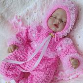 Вязаный комплект для новорожденных