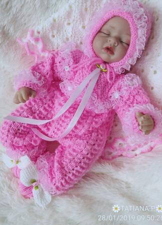 Вязаный комплект для новорожденных ручной работы на заказ