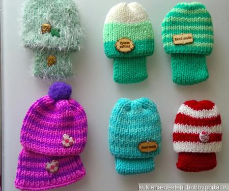 Комплект (шапочка и снуд) для кукол ручной работы на заказ